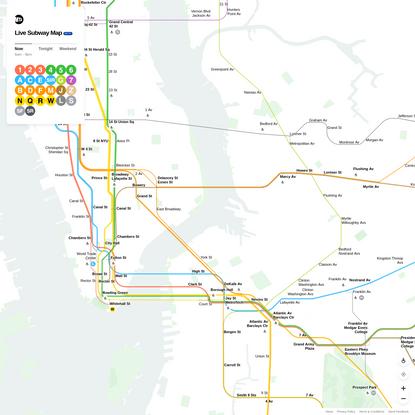 MTA Live Subway Map