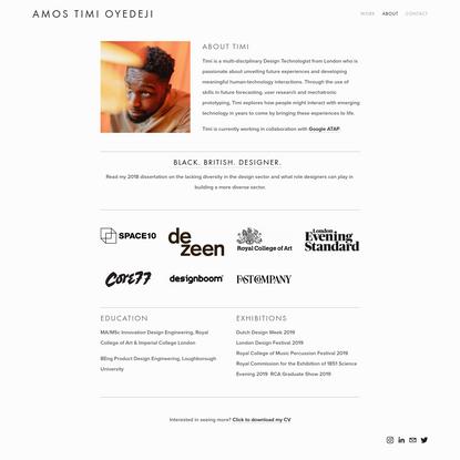 About - Amos Timi Oyedeji