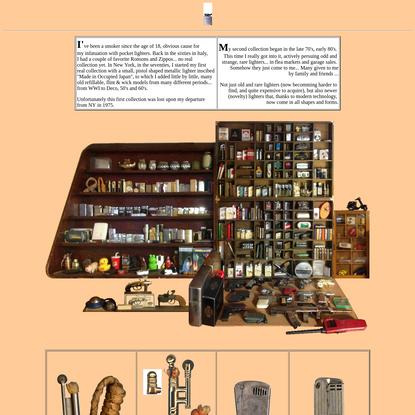 John's Cigarette Lighter Collection