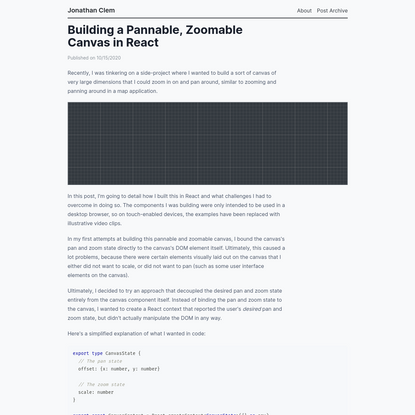 Building a Pannable, Zoomable Canvas in React
