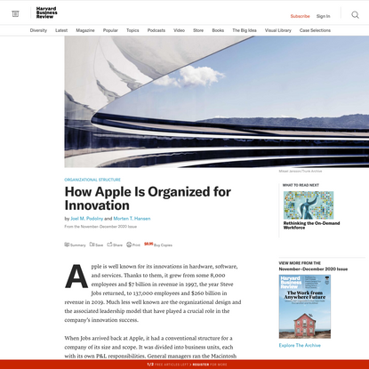 How Apple Is Organized for Innovation