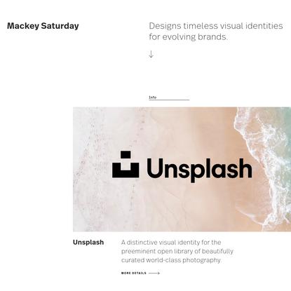 Mackey Saturday - Designer