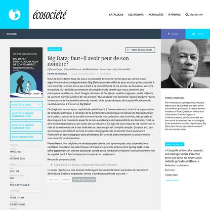 Écosociété | Big Data: faut-il avoir peur de son nombre?
