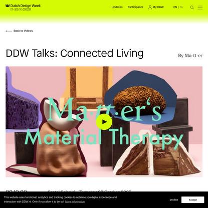 DDW Talks: Connected Living - Dutch Design Week
