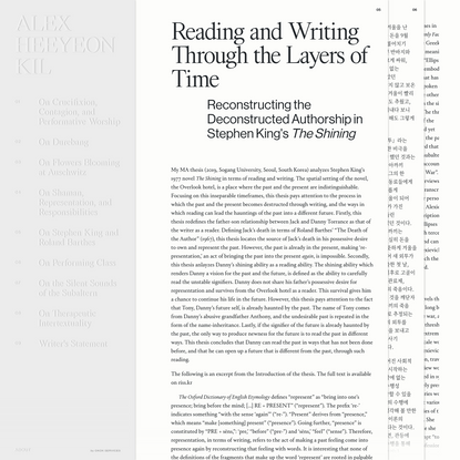 Alex Heeyeon Kil - Reading and Writing Through the Layers of Time