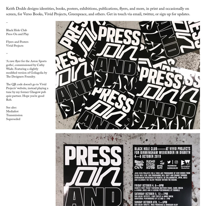 Kith Dodds, design for Press on and Play