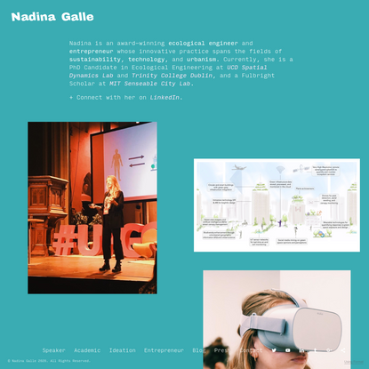 Home - Dr. Nadina Galle - Ecological Engineer