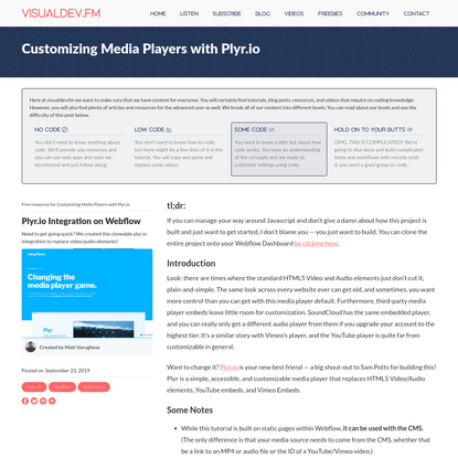 Customizing Media Players with Plyr.io