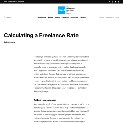 Calculating a Freelance Rate