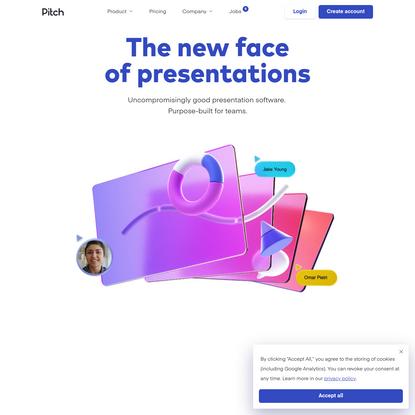 Collaborative presentation software for modern teams.