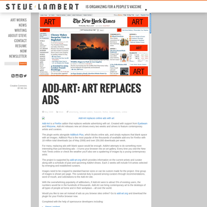 Add-Art: Art replaces ads