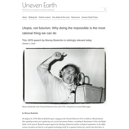 Utopia, not futurism: Why doing the impossible is the most rational thing we can do