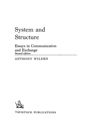 Anthony Wilden-system-and-structure