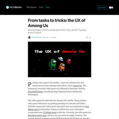 From tasks to tricks: the UX of Among Us