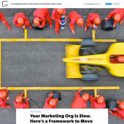 Your Marketing Team is Slow. Here's a Framework to Move Faster.