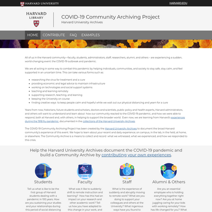 COVID-19 Community Archiving Project