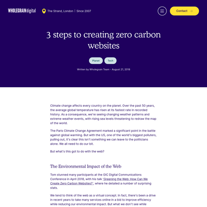 3 steps to creating zero carbon websites