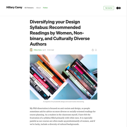 Diversifying your Design Syllabus: Recommended Readings by Women and Culturally Diverse Authors
