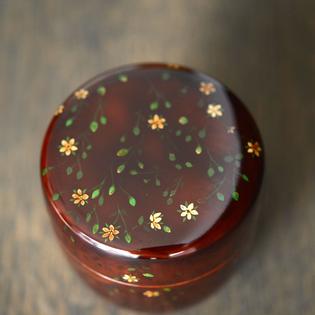 Natsume Tea Container with Chickweed 中棗はこべ (Hashizume Reiko)