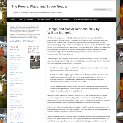 Design and Social Responsibility by William Mangold