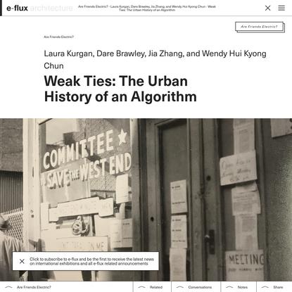 Weak Ties: The Urban History of an Algorithm