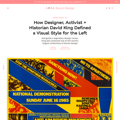 How Designer, Activist + Historian David King Defined a Visual Style for the Left | | Eye on Design