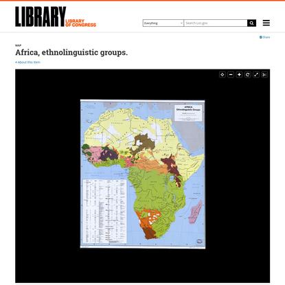 Africa, ethnolinguistic groups.