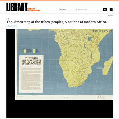 The Times map of the tribes, peoples, & nations of modern Africa.