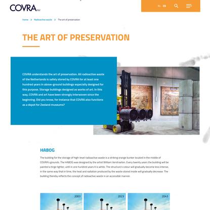 The art of preservation - COVRA N.V.
