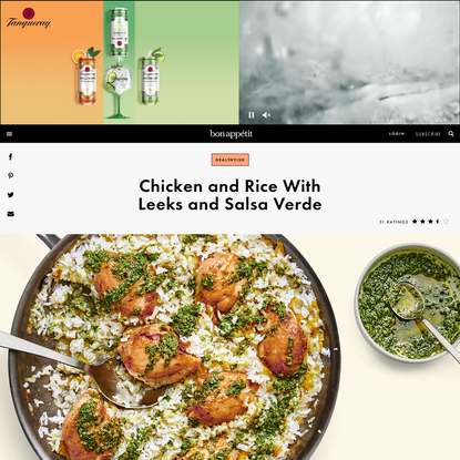 Chicken and Rice With Leeks and Salsa Verde Recipe