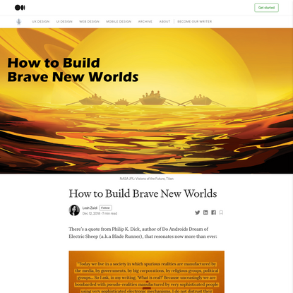 How to Build Brave New Worlds: Part One