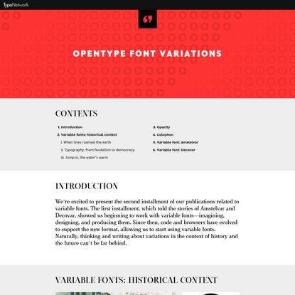 OpenType Font Variations