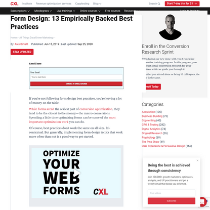 Form Design: 13 Empirically Backed Best Practices | CXL