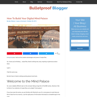 How To Build Your Digital Mind Palace