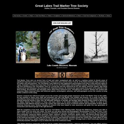 Great Lakes Trail Marker Tree Society | Trail Trees | Trail Marker Trees | Home of the Great Lakes Trail Tree Society