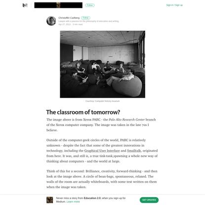 The classroom of tomorrow? - Education 2.0