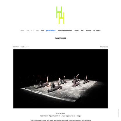 PUNCTUATE - Studio HH
