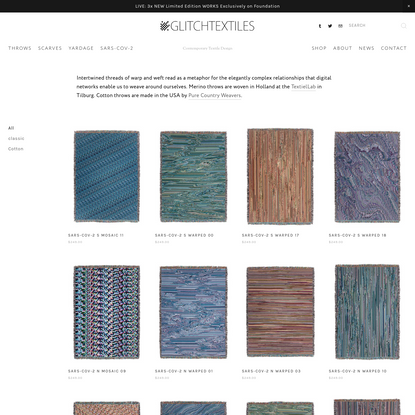 Throws - Glitch Textiles