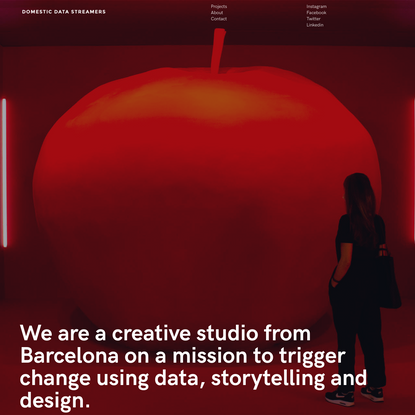 Domestic Data Streamers - Independent Data Design Studio