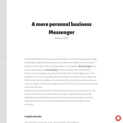 Intercom Messenger - Julien Zmiro - Product Designer