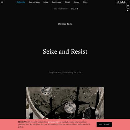 Seize and Resist   Thea Riofrancos