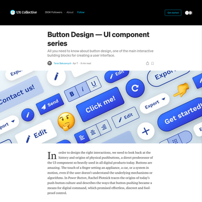 The anatomy of a button-UI component series