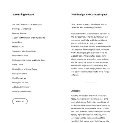 Web Design and Carbon Impact - Carl MH Barenbrug - Minimalissimo - Minimalism Life