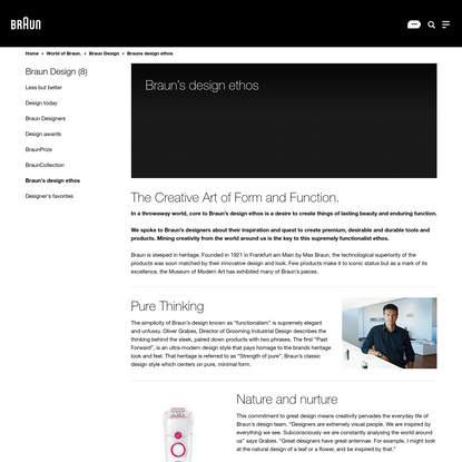 Braun's design ethos