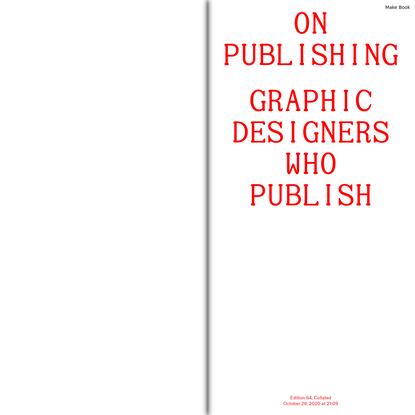 Graphic Designers Who Publish