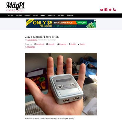 Clay sculpted Pi Zero SNES - The MagPi magazine
