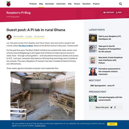 Guest post: A Pi lab in rural Ghana - Raspberry Pi