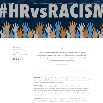 Designing for Racial Equity - #HRvsRacism