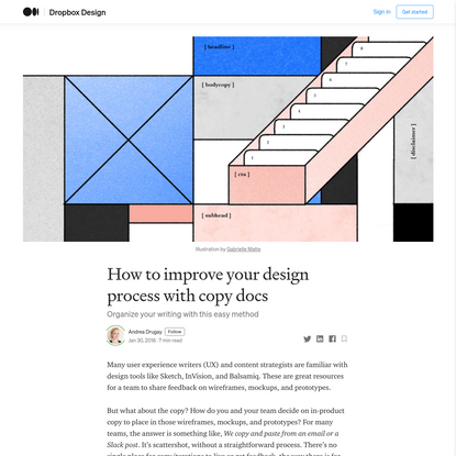 How to improve your design process with copy docs