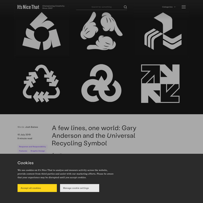 A few lines, one world: Gary Anderson and the Universal Recycling Symbol